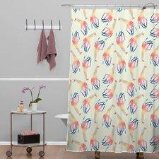 Jacqueline Maldonado Woven Polyester Watercolor Giraffe Shower Curtain