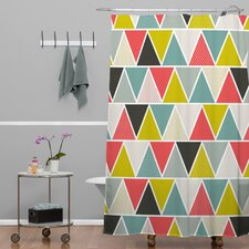 Heather Dutton Triangulum Polyesterrr Shower Curtain