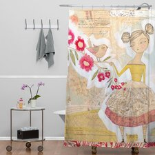 Cori Dantini Woven Polyester The Secret To Happiness Shower Curtain
