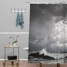 Bird Wanna Whistle Woven Polyester Water Shower Curtain