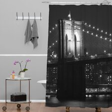 Leonidas Oxby Woven polyester Brooklyn Bridge 125 Shower Curtain