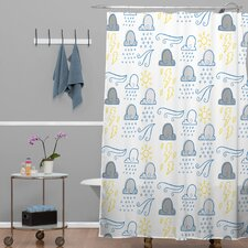 Jennifer Denty Woven Polyester Clouds Shower Curtain
