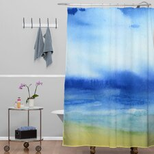 Jacqueline Maldonado Woven Polyester Sea Church Shower Curtain