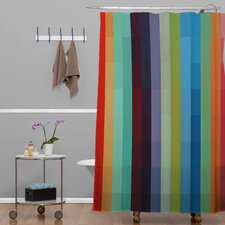 Madart Inc Woven Polyester City Colors Extra Long Shower Curtain