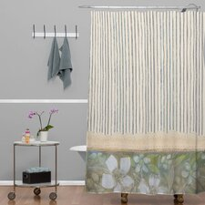 Cori Dantini Woven Polyester Stripes Extra Long Shower Curtain