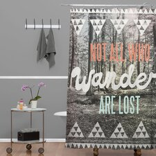 Wesley Bird Woven Polyester Wander Extra Long Shower Curtain