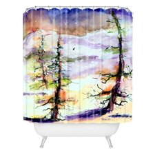Ginette Fine Art Winter Trees Woven Polyester Shower Curtain
