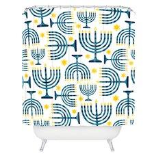 Zoe Wodarz Holiday Lights Woven Polyester Shower Curtain