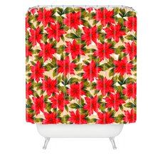 Aimee St Hill Poinsettia Woven Polyester Shower Curtain