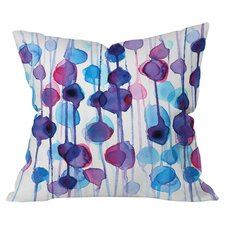 Cmykaren Abstract Watercolor Outdoor Throw Pillow