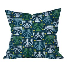 Loni Harris Menorahs Throw Pillow