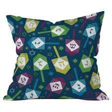 Loni Harris Dreidel Dreidel Throw Pillow