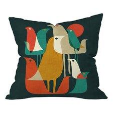 Budi Kwan Flock Of Bird Indoor/Outdoor Throw Pillow