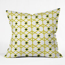 Heather Dutton Annika Diamond Citron Outdoor Throw Pillow