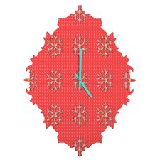Ingrid Padilla Flakes A Flutter Wall Clock