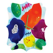 CayenaBlanca Big Flowers Wall Clock