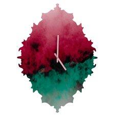 Caleb Troy Zero Visibility Poinsettia Ombre Wall Clock