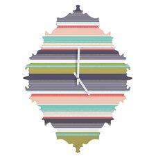 Wendy Kendall Multi Stripe Wall Clock