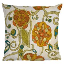 Valentina Ramos Flowers Polyester Throw Pillow
