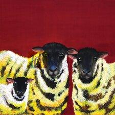 Clara Nilles Woven Polyester Lemon Spongecake Sheep Shower Curtain