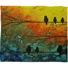 <strong>DENY Designs</strong> Madart Inc. Birds Of A Feather Polyester Fleece Throw Blanket