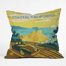 Anderson Design Group Coastal California Woven Polyester Throw Pillow