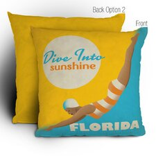 <strong>DENY Designs</strong> Anderson Design Group Dive Florida Woven Polyester Throw Pillow