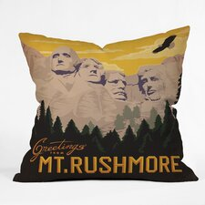 Anderson Design Group Mt Rushmore Indoor/Outdoor Polyester Throw Pillow