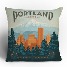 Anderson Design Group Portland Woven Polyester Throw Pillow
