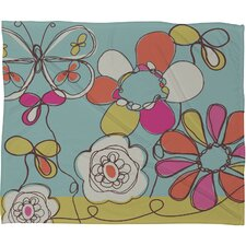 Rachael Taylor Fun Floral Polyester Fleece  Throw Blanket