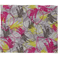 Rachael Taylor Organic Retro Leaves Polyester Fleece Throw Blanket
