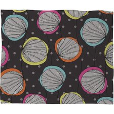Rachael Taylor Scribble Shells Polyester Fleece Throw Blanket