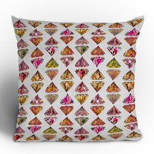 <strong>DENY Designs</strong> Bianca Green These Diamonds Are Forever Woven Polyester Throw Pillow