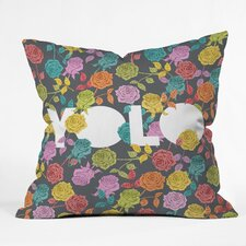 <strong>DENY Designs</strong> Bianca Green Yolo Woven Polyester Throw Pillow