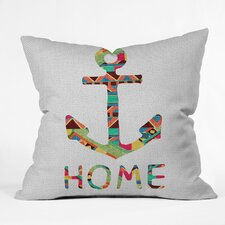 <strong>DENY Designs</strong> Bianca Green You Make Me Home Woven Polyester Throw Pillow