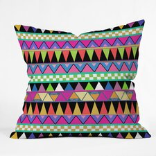 Bianca Green Zigzag Polyester Throw Pillow