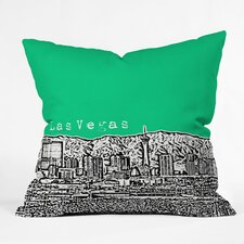 Bird Ave Las Vegas Woven Polyester Throw Pillow