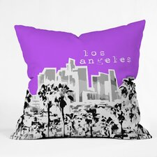 <strong>DENY Designs</strong> Bird Ave Los Angeles Woven Polyester Throw Pillow