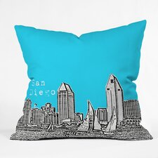 <strong>DENY Designs</strong> Bird Ave San Diego Indoor/Outdoor Polyester Throw Pillow