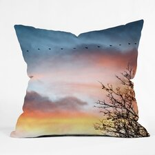 <strong>DENY Designs</strong> Bird Wanna Whistle Bird Line Woven Polyester Throw Pillow