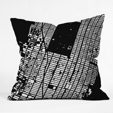 CityFabric Inc NYC Midtown Woven Polyester Throw Pillow