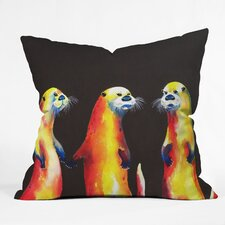 Clara Nilles Flaming Otters Woven Polyester Throw Pillow