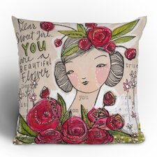 Cori Dantini Dear Sweet Girl Woven Polyester Throw Pillow