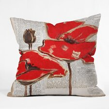 Irena Orlov Red Perfection Outdoor Throw Pillow