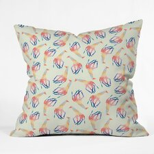 Jacqueline Maldonado Watercolor Giraffe Polyester Throw Pillow