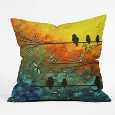 Madart Inc. Birds Of A Feather Woven Polyester Throw Pillow