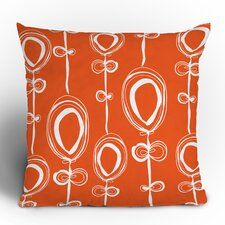 Rachael Taylor Contemporary Orange Woven Polyester Throw Pillow