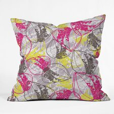 <strong>DENY Designs</strong> Rachael Taylor Organic Retro Leaves Woven Polyester Throw Pillow