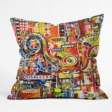 Robin Faye Gates Polyester It Came From Detroit Indoor / Outdoor Throw Pillow
