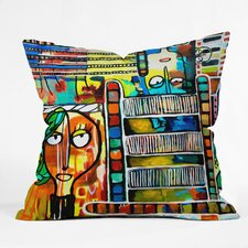 Robin Faye Gates Polyester Musical Chairs Indoor / Outdoor Throw Pillow